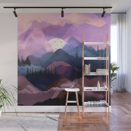 Misty Mountain Morning Wall Mural