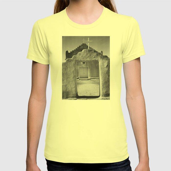 Ansel Adams - Taos Pueblo Church T-shirt by constantchaos   Society6