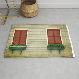 Flowers in the Window Rug