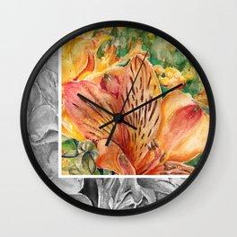 Alstroemeria 3 Wall Clock