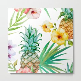 Pines & palms Metal Print