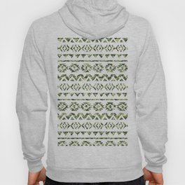 Abstract Andes Tribal Aztec Green Camo Pattern Hoody