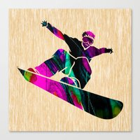 snowboard Canvas Prints featuring Snowboard by marvinblaine