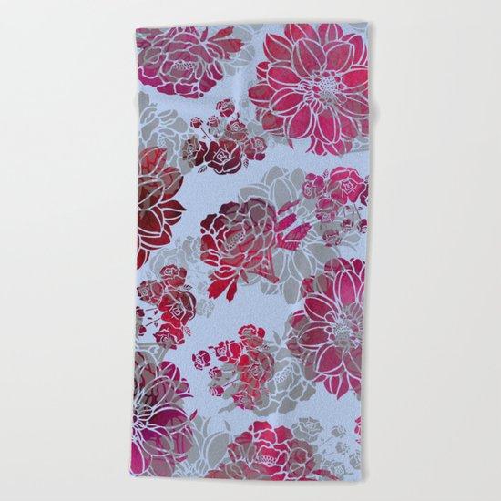 Flower Pattern Design Beach Towel