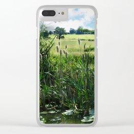 Summer Abundance Clear iPhone Case