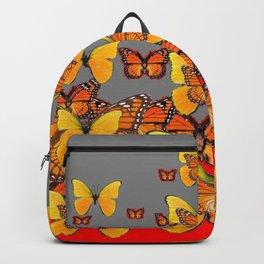 DECORATIVE YELLOW-ORANGE MONARCH BUTTERFLIES Backpack