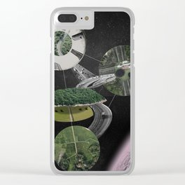 Chymical Station: Escape into Space Clear iPhone Case