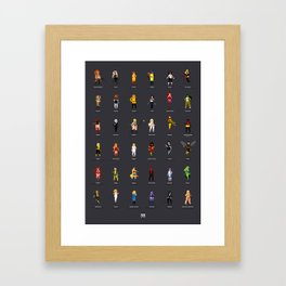 36 Supergirls Framed Art Print