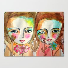 2 girls Canvas Print
