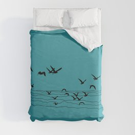 Seagull Beach by Seasons K Designs Duvet Cover
