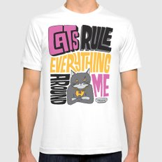 C.R.E.A.M. Cats Rule Everything Around Me Mens Fitted Tee 2X-LARGE White