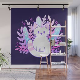 Plant Cat Wall Mural