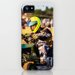 Lawnmower Race iPhone Case