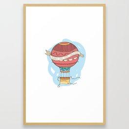 Air balloon Framed Art Print