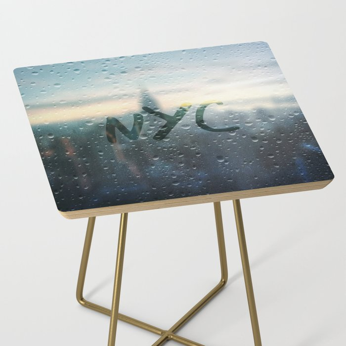 Rainy Day in NYC Side Table