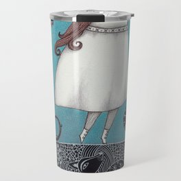 Between the Woods and Frozen Lake Travel Mug