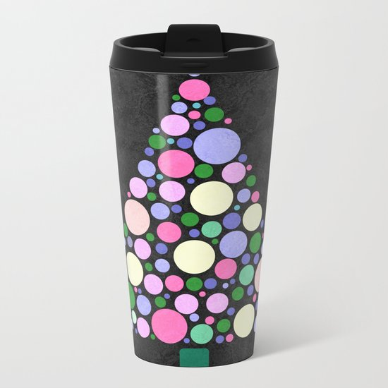 Christmas Tree Marble Metal Travel Mug
