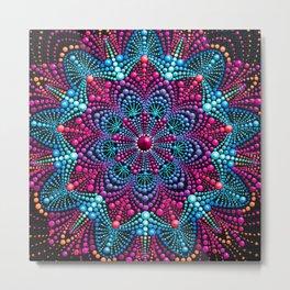 Mandala painting on canvas Metal Print
