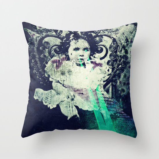 Butterfly Child Throw Pillow