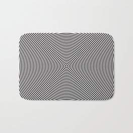 op art - circles Bath Mat