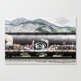 I see mountains Canvas Print