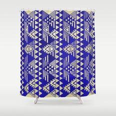 Ethnic Indigo Shower Curtain