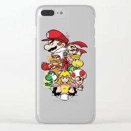 Mushroom Kingdom Fighters Clear iPhone Case