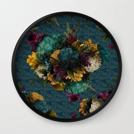 Shy Floral Wall Clock