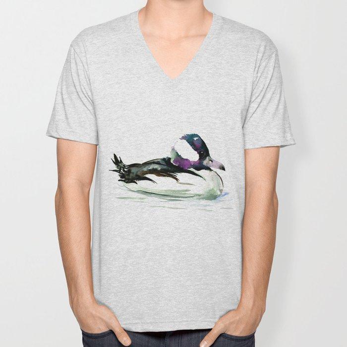 Bufflehead Duck Unisex V-Neck