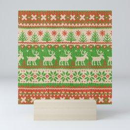 Ugly Christmas Sweater Digital Knit Pattern Mini Art Print