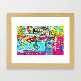 Yards and laboratories Framed Art Print