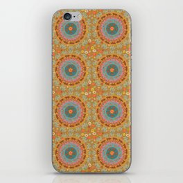 Boho animal circle iPhone Skin