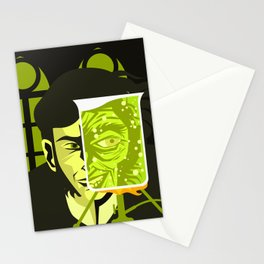 doctor and mister mad experiment Stationery Cards