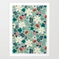 garden Art Prints featuring Flower Garden by Anna Deegan