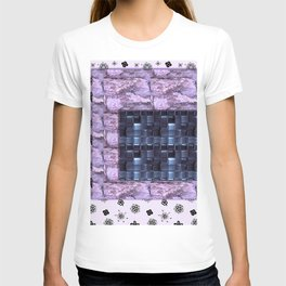 texture for interior decoration purple T-shirt
