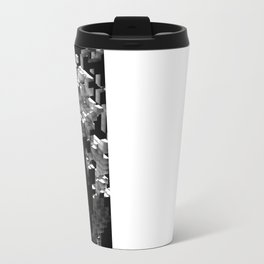 Cellular Automata 01 Metal Travel Mug