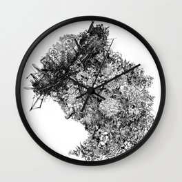nature sacrifice-black and white portrait Wall Clock