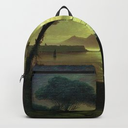 Moonlit Night over the Bay of Naples by Ivan Aivazovsky Backpack