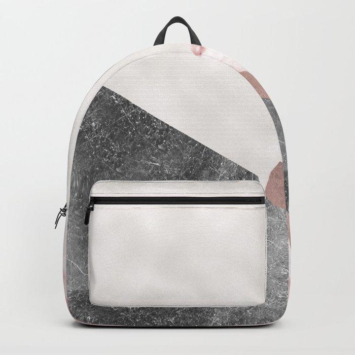 Rose grunge - geo layers II Backpack