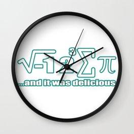 I Ate Some Pie I 8 Sum Pi Funny math Wall Clock
