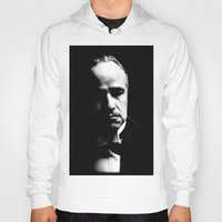godfather Hoodies featuring the godfather  by Fotis
