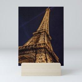 Illuminated Eiffel Tower, Paris, France Mini Art Print