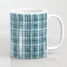simple pattern in blue small cell. Coffee Mug