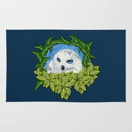 Mister Blue Eyes (Snowy Owl) Rug