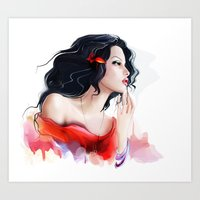gypsy Art Prints featuring Gypsy by tatiana-teni