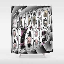 Komondored Blobfish Logo Shower Curtain