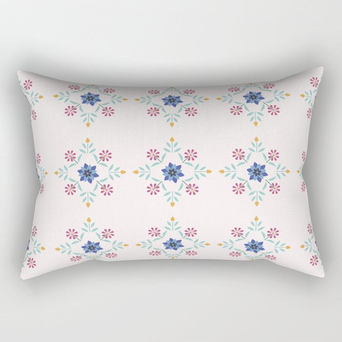 Floral Pattern #3 Rectangular Pillow