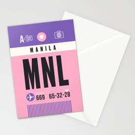 Luggage Tag A - MNL Manila Philippines Stationery Cards