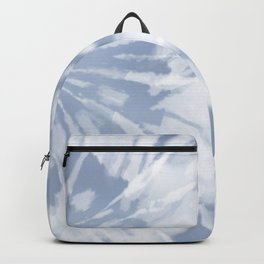 blue grey soft tie dye Backpack