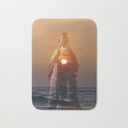 Lady Buddha of the sunset Bath Mat